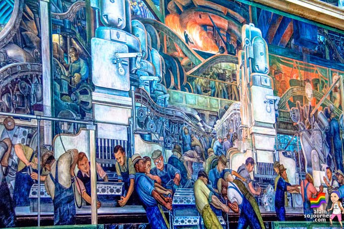 Diego rivera murals at detroit institute of arts for Diego rivera mural san francisco art institute