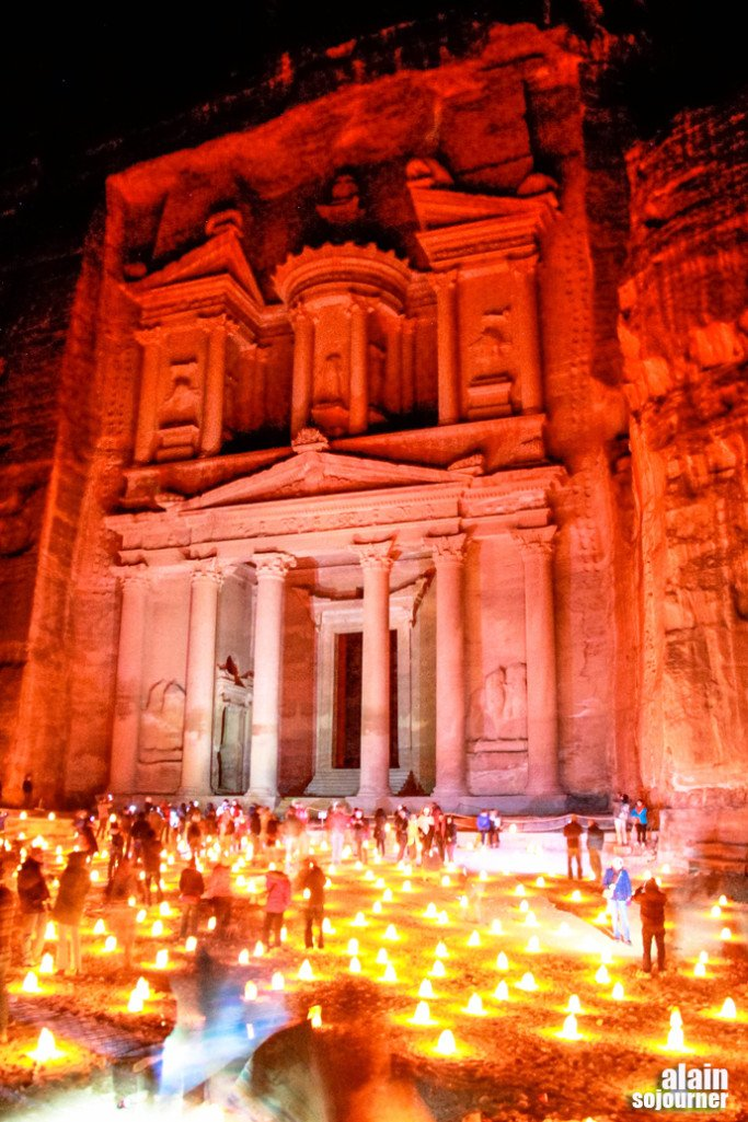 Petra By Night Jordan The Treasury