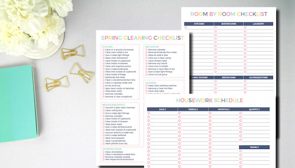 Cleaning Checklists Bundle Keep Calm Get Organised - housework schedule