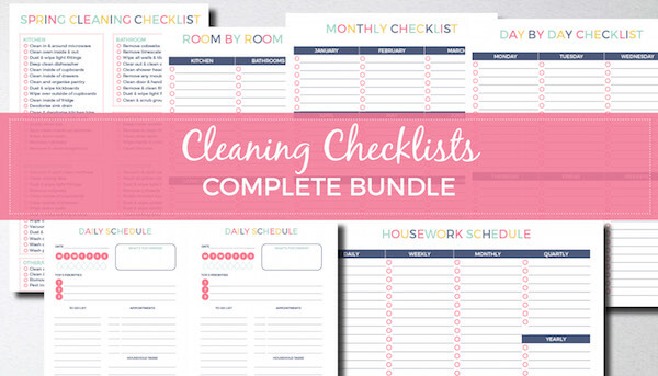 Cleaning Checklists Bundle Keep Calm Get Organised