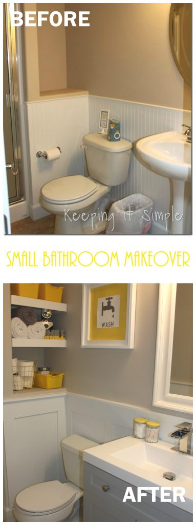 Small Bathroom Remodel Ideas Bathroom Shelves With Board And Batten Keeping It Simple