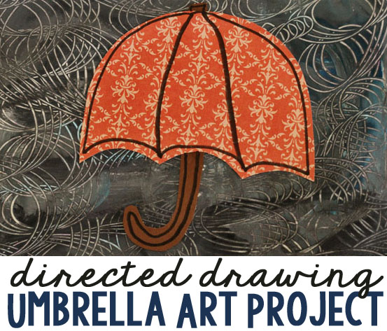 Directed Drawing Umbrella Art Project
