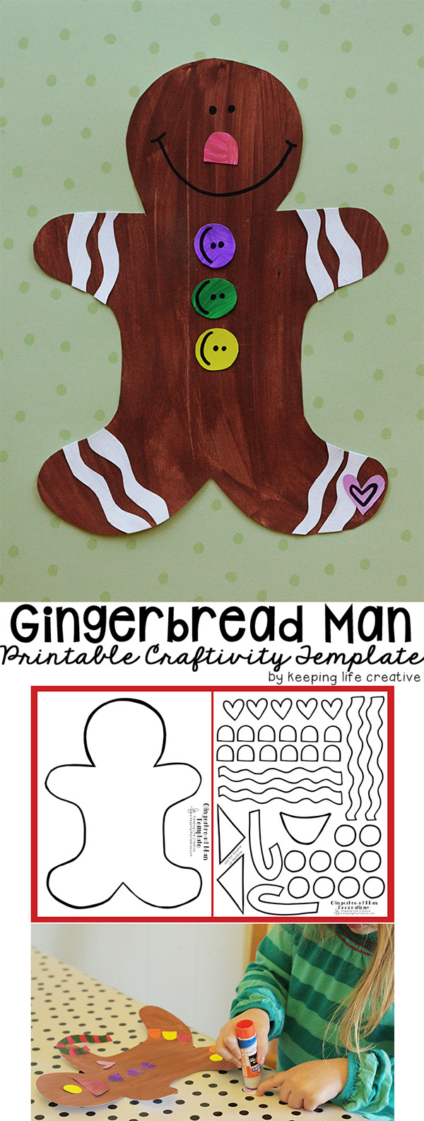 Printable gingerbread man craft keeping life creative for Craft projects for guys