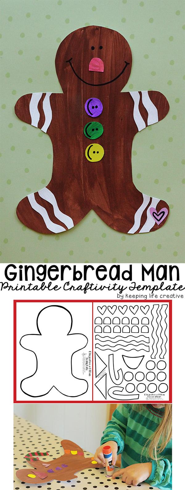 Gingerbread Man Craftivity makes a fun Christmas craft!