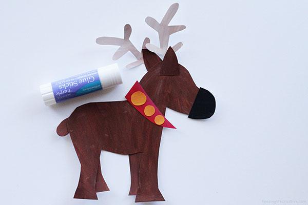 Reindeer Printable Craft Template