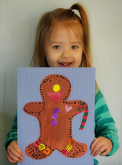 gingerbread man completed
