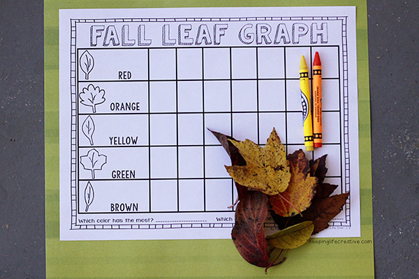 fall leaf graphing activity