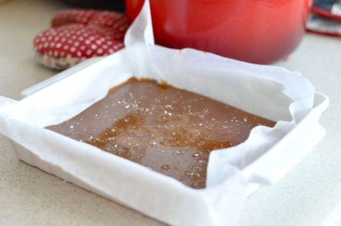 chewy salt caramel sprinkled with salt