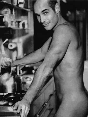 Jean Marc Barr making a cup of tea.