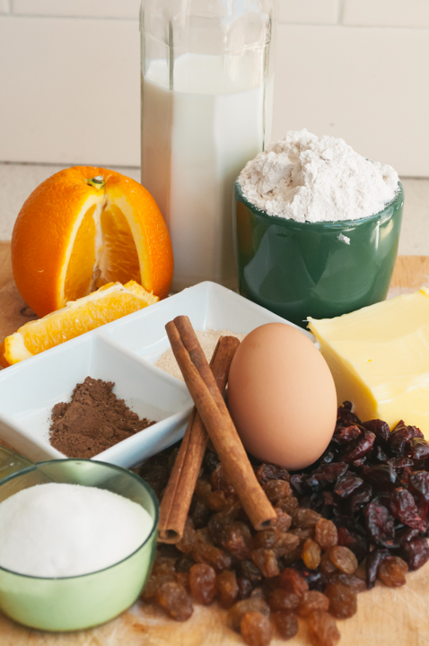 spelt hot cross bun ingredients