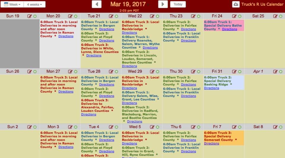 Screenshots  Live Sample Calendars KeepandShare - sample agenda calendar