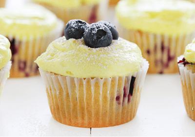 Blueberry Zucchini Cake with Lemon Buttercream | KeepRecipes: Your Universal Recipe Box