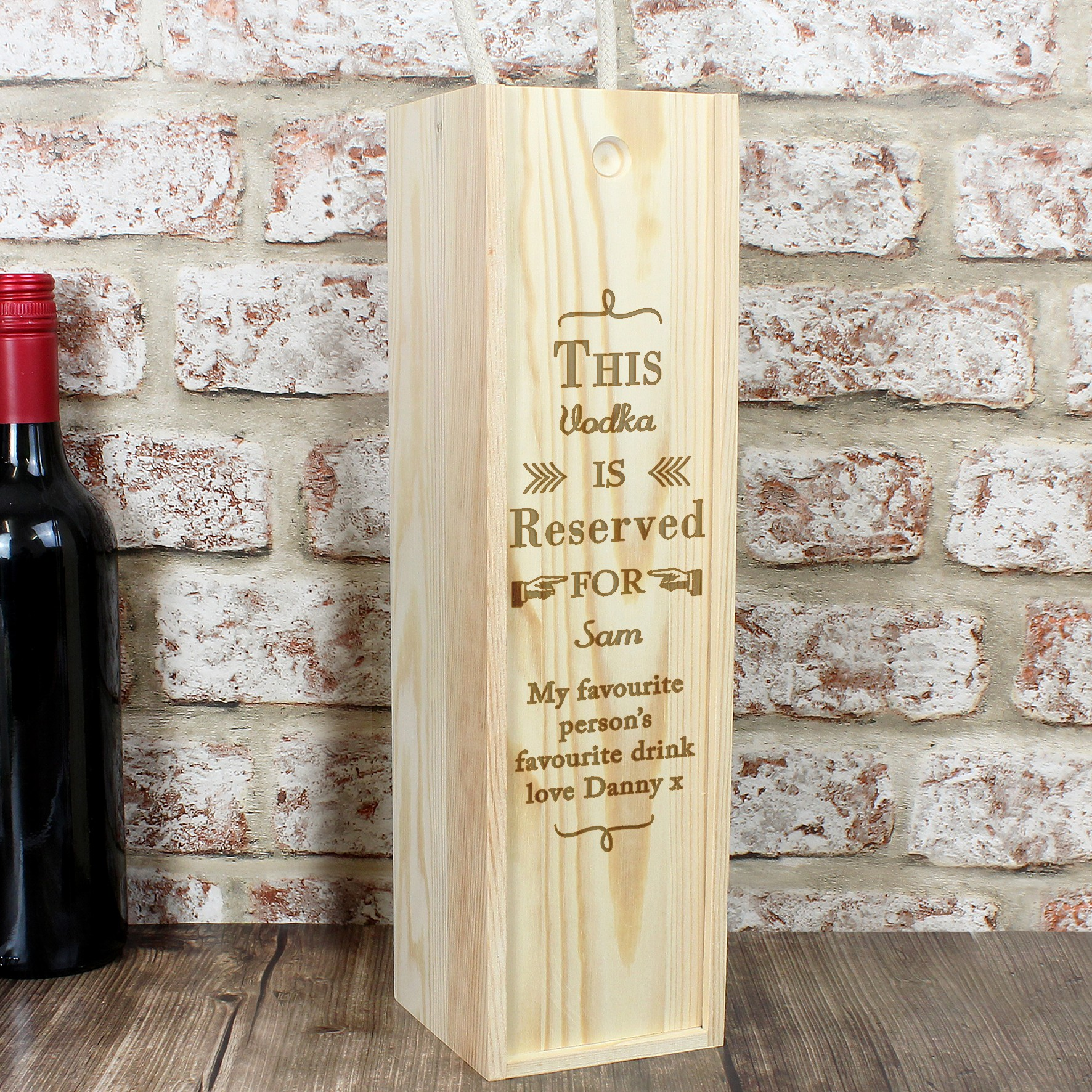 Other Celebrations Occasions Personalised Wine Bottle Presentation Box Special Occasion Gift Home Furniture Diy Rentwork Eu