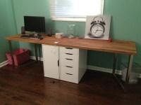 Office Makeover Part One: DIY Desk (IKEA Hack)  Keeps on ...