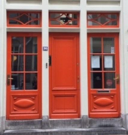 bold orange doors at 9 streets