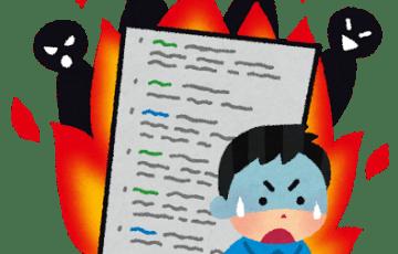 ブログが炎上