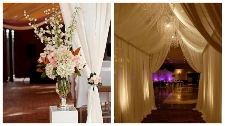 Draping Wedding Flowers