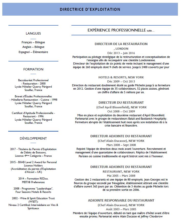 competences professionnelles cv manager rayon