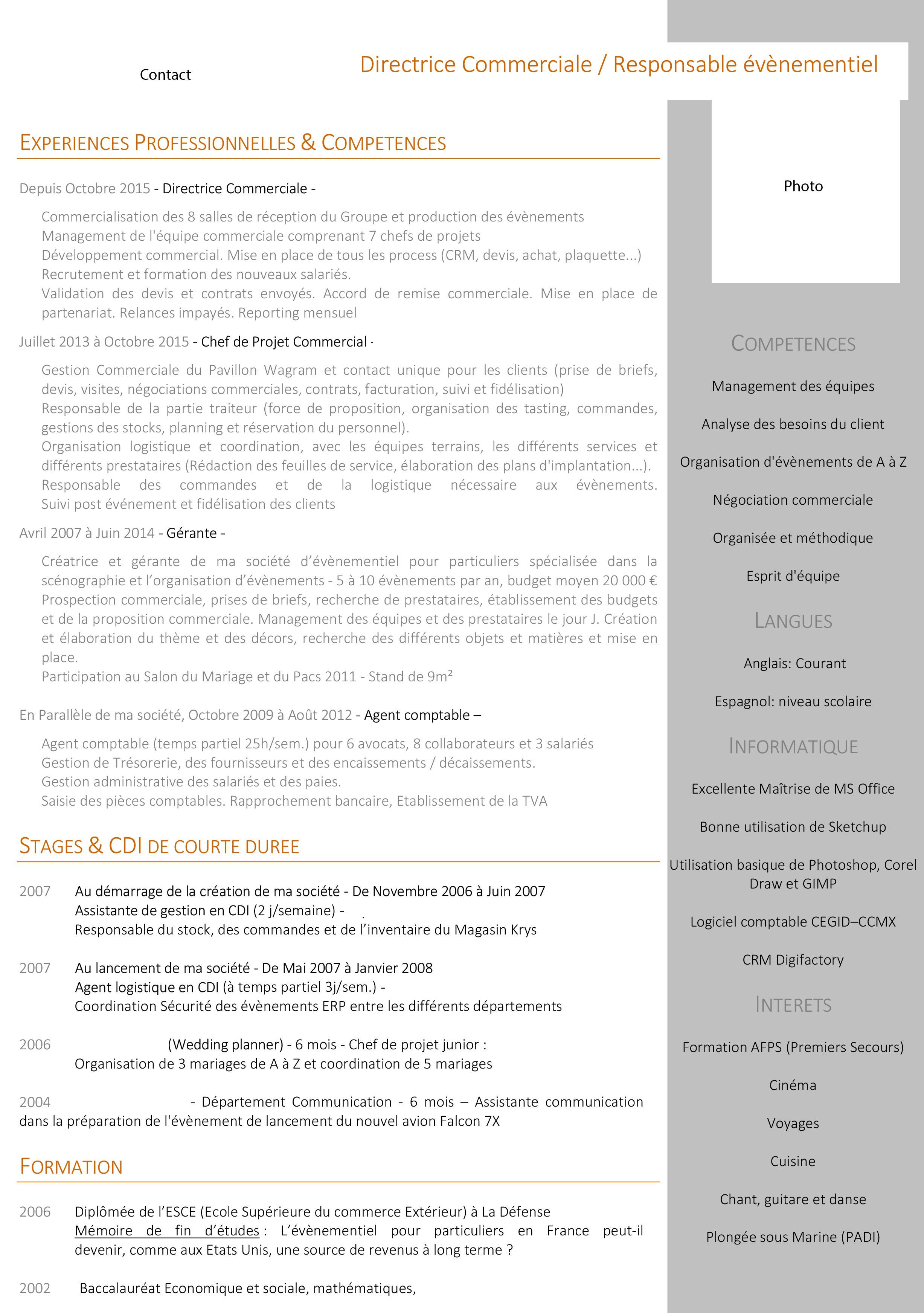 competences cv standardiste