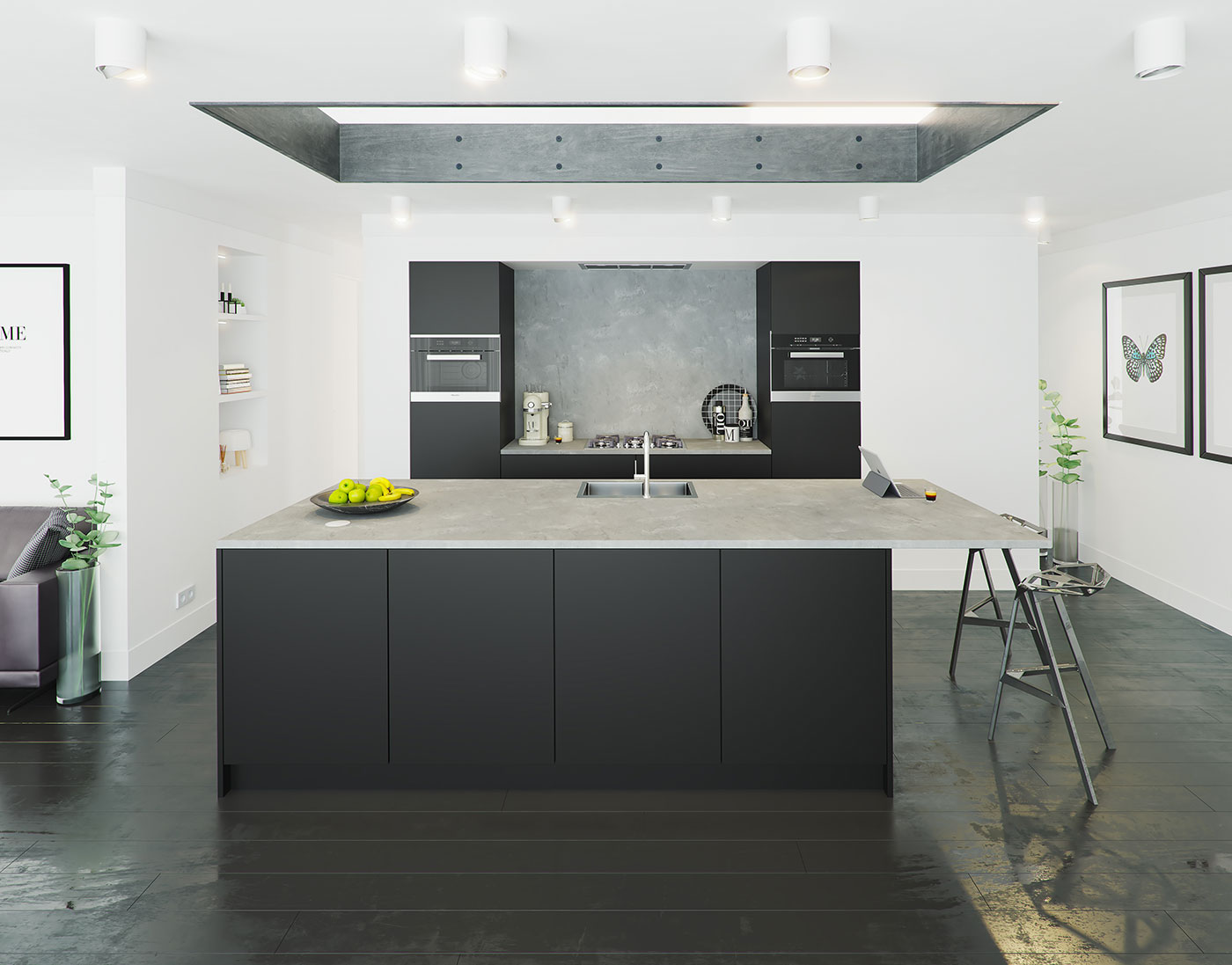 Black Design For Kitchen Kitchen Gallery Keller Kitchens
