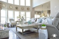 Cool Tone Spring Ready Living Room Tour - Kelley Nan