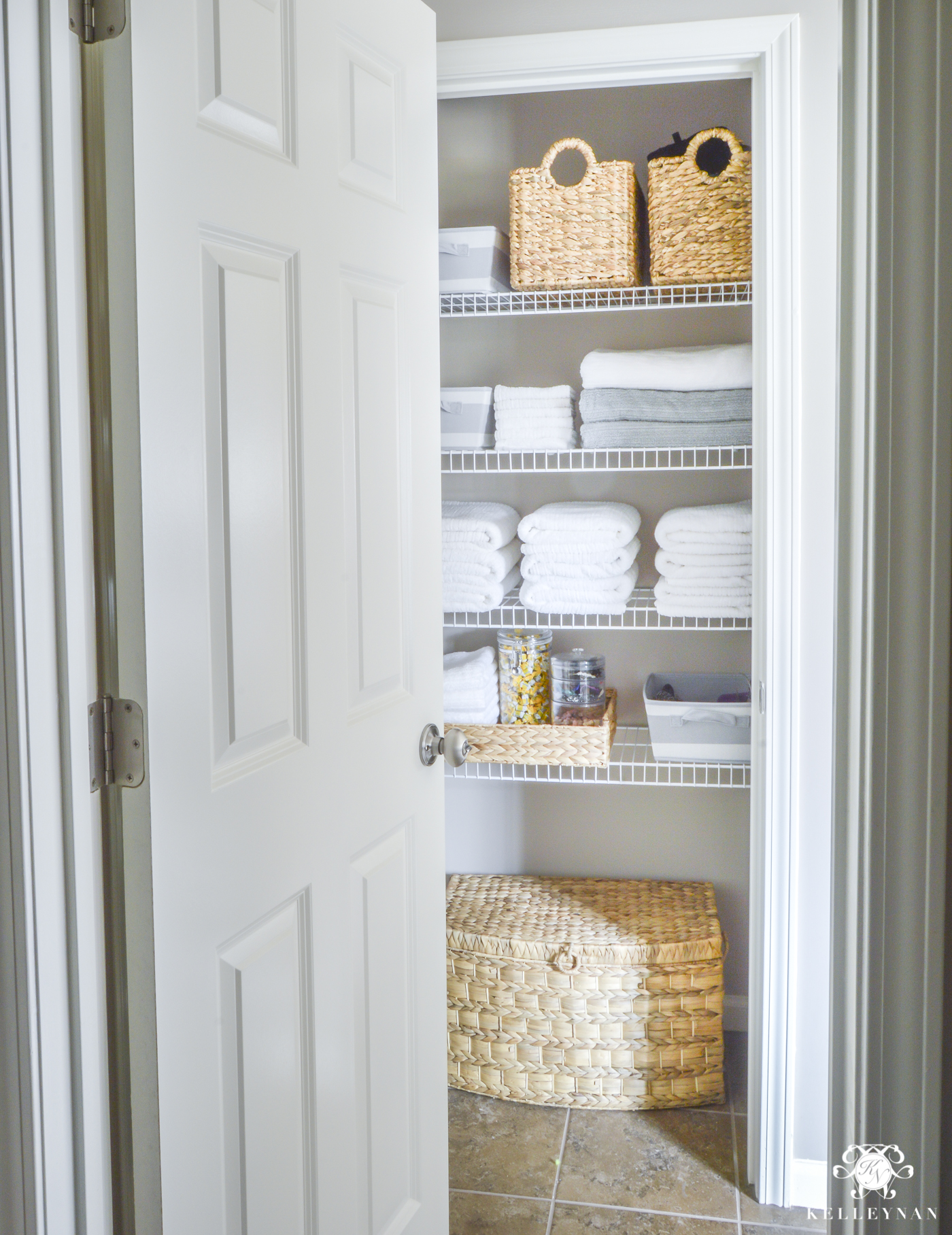 Linen Closet Organizer Systems Organized Bathroom Linen Closet Anyone Can Have Kelley Nan
