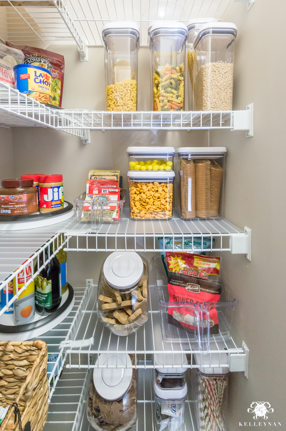 Pantry Organization Nine Ideas To Organize A Small Pantry With Wire Shelving Kelley Nan