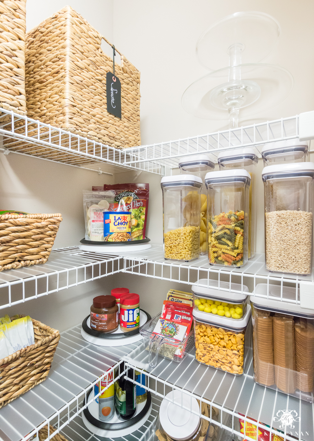 Pantry Shelves Nine Ideas To Organize A Small Pantry With Wire Shelving Kelley Nan