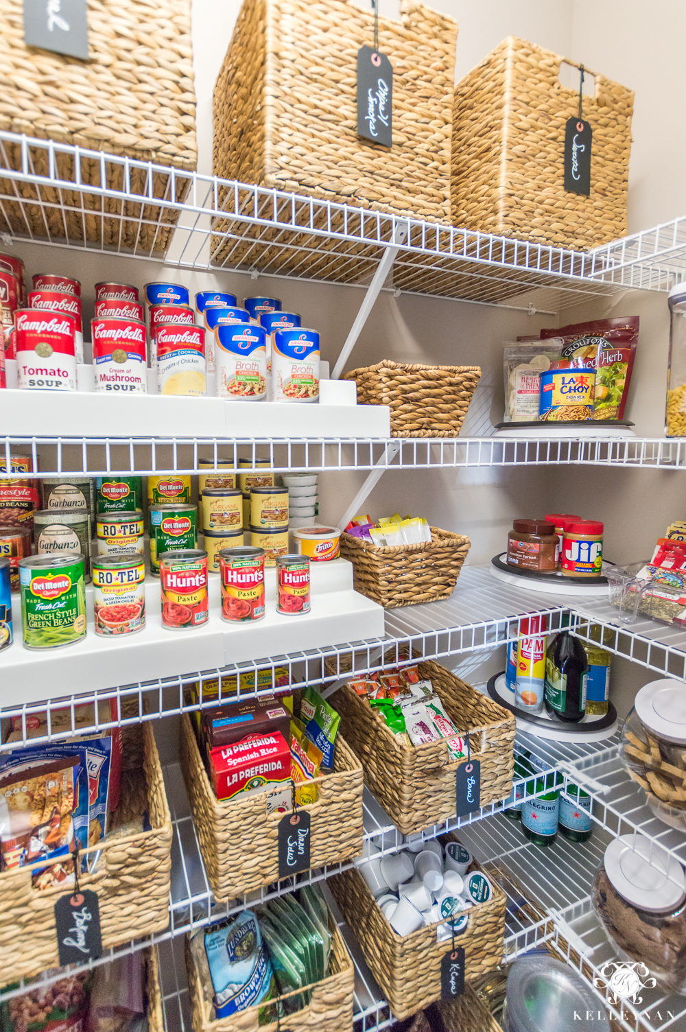 Small Space Organization Nine Ideas To Organize A Small Pantry With Wire Shelving Kelley Nan