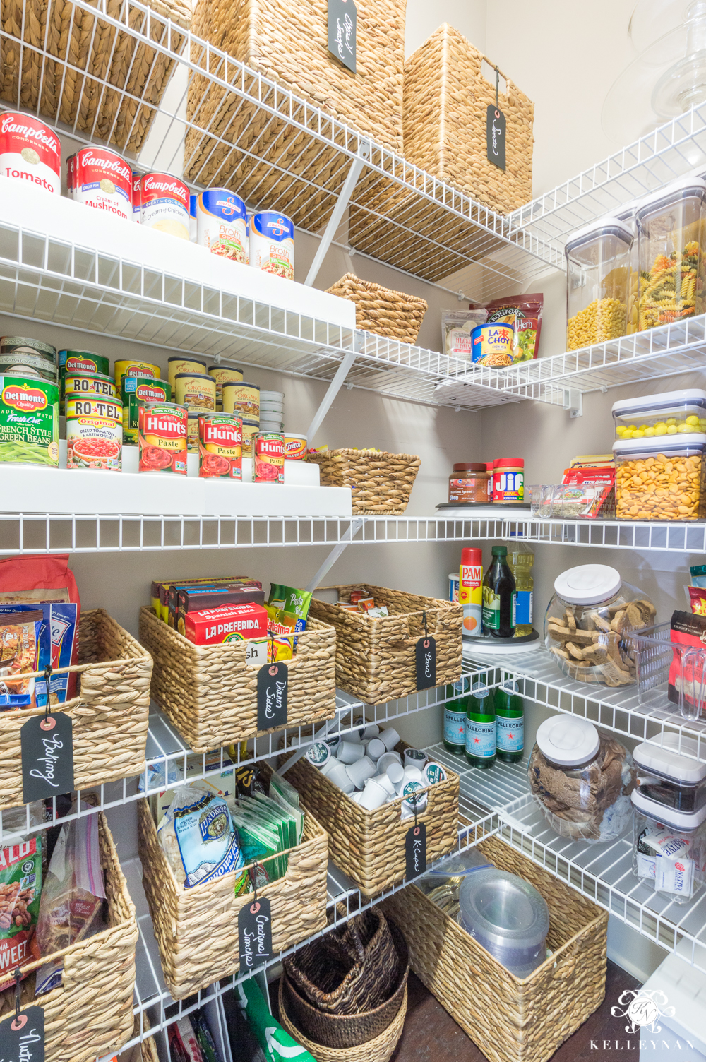 Store Shelving Nine Ideas To Organize A Small Pantry With Wire Shelving Kelley Nan