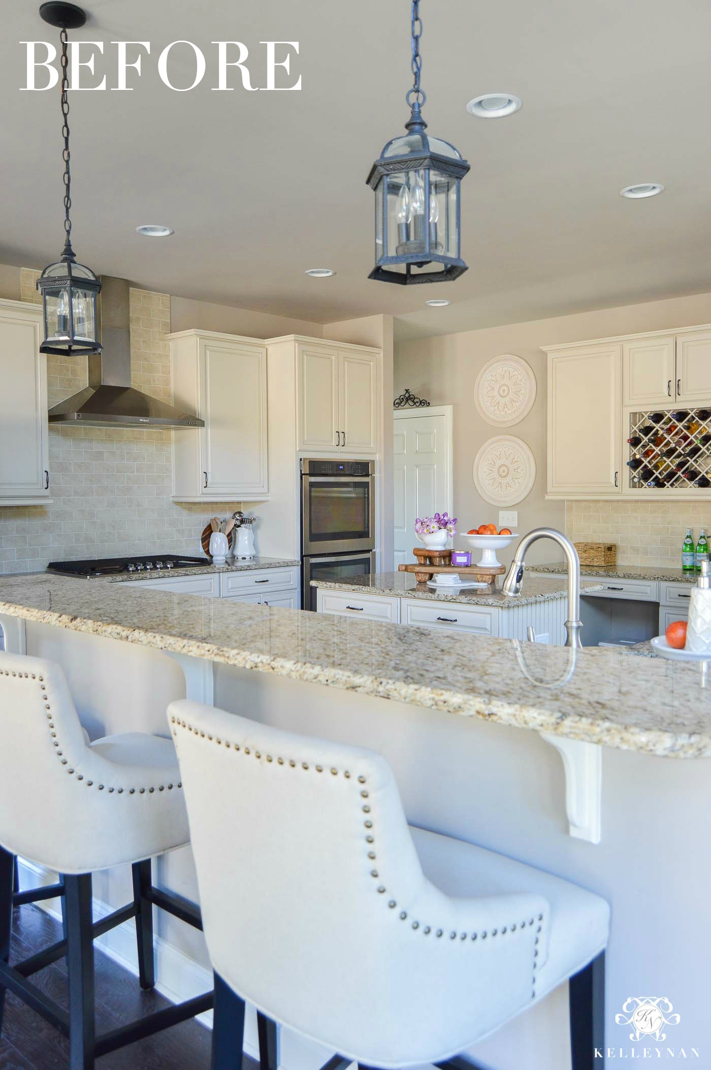 Kitchen Lighting Improving Builder Grade Light Fixtures To Affordable Transitional