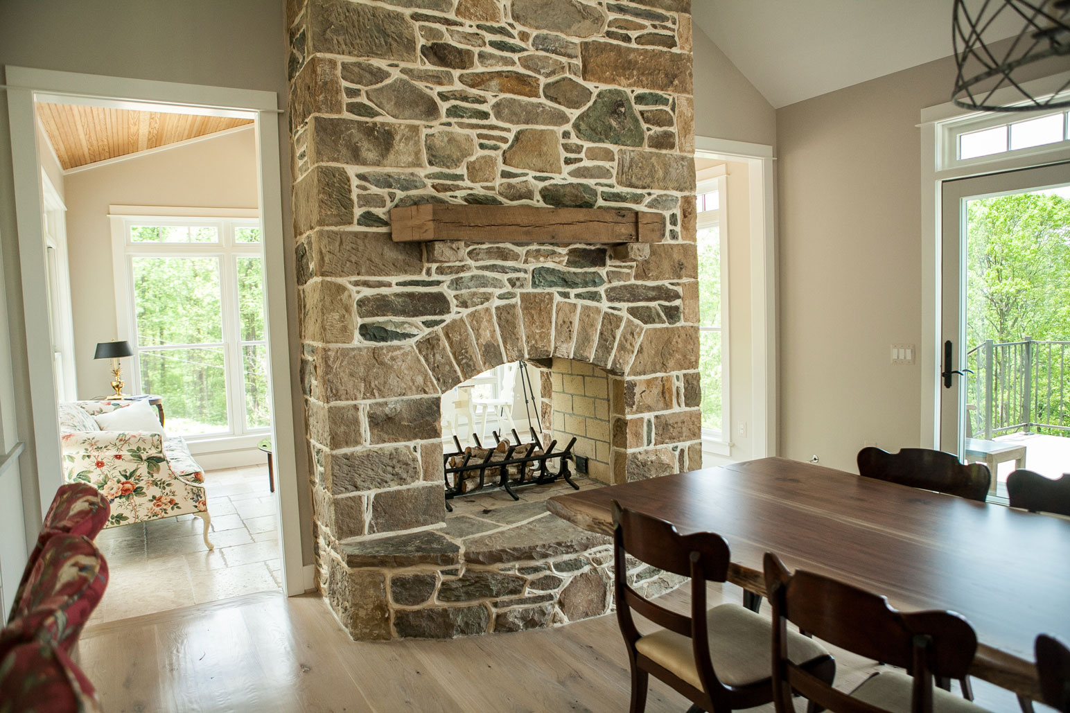 White Brick Wall Masonry Fireplaces | Loudoun County | Kelley's Masonry