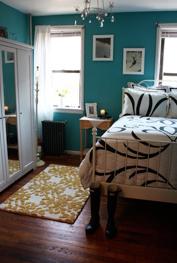 Petrol Wandfarbe Schlafzimmer Bedroom Inspiration – Teal For Real
