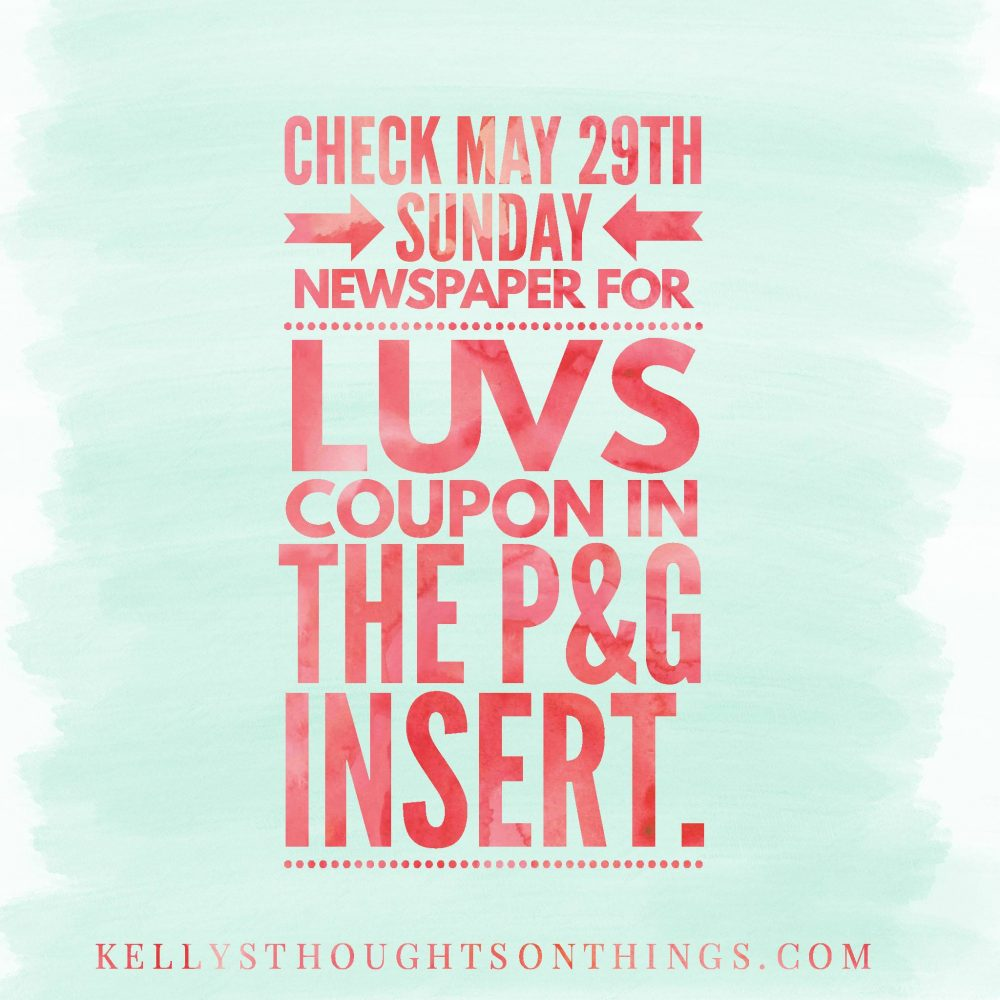 High Value Luvs Coupon in Sunday Paper