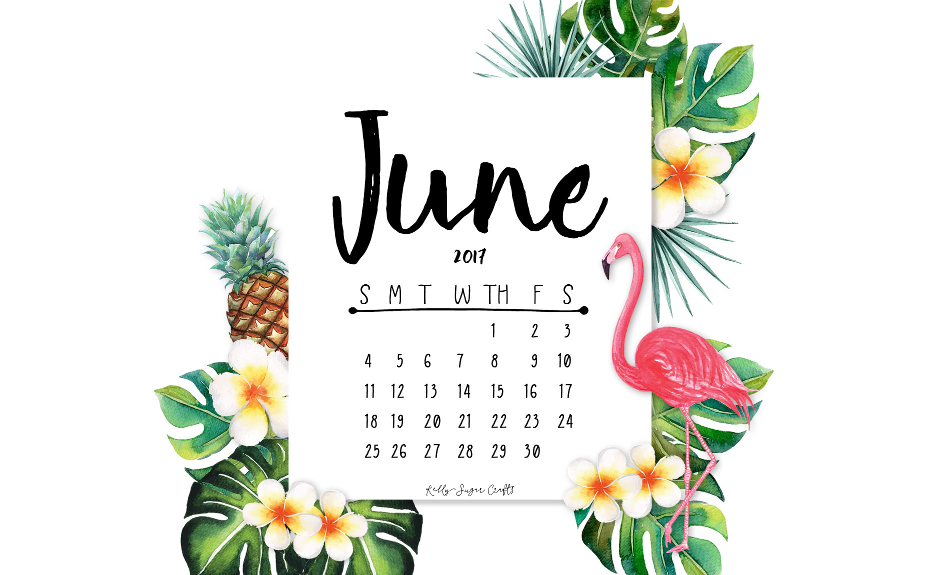 Example Domain June 2017 Printable Calendar Wallpapers Kelly Sugar Crafts