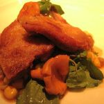 Quail with Corn and Golden Chanterelles
