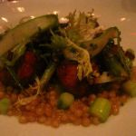 Sweetbreads, asparagus, farro