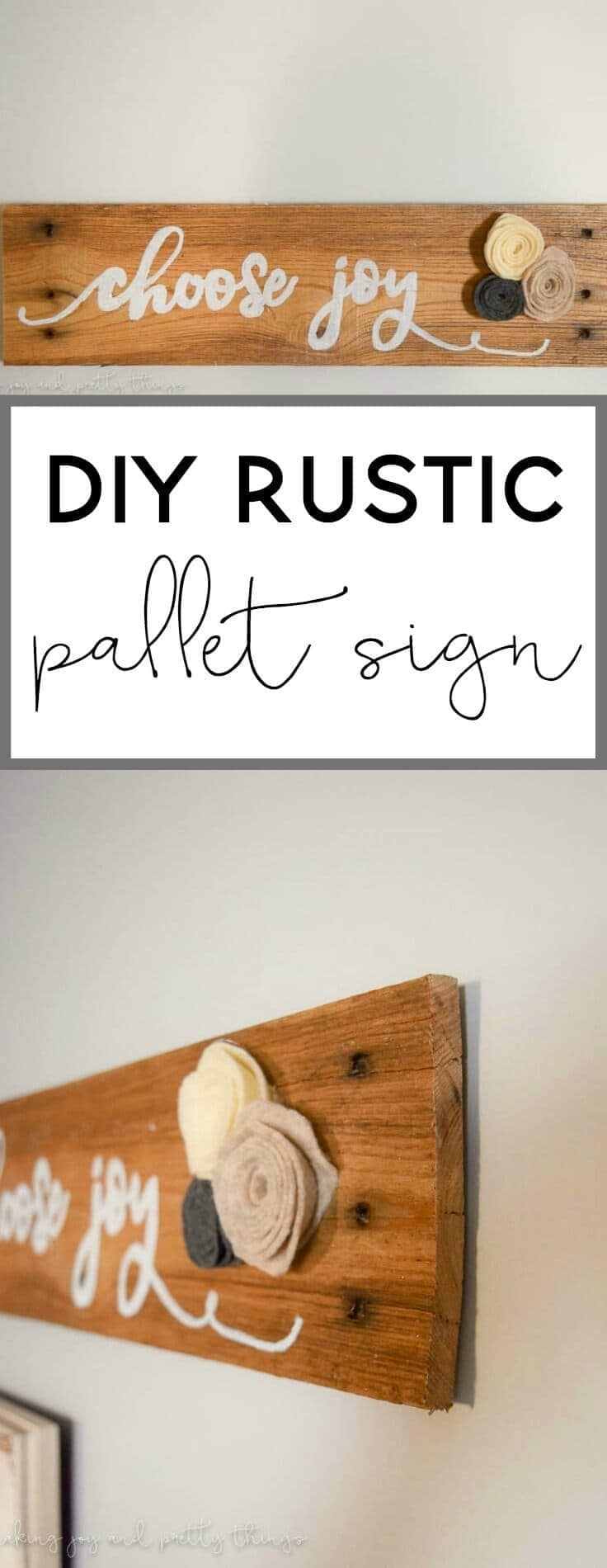 Diy Rustic Pallet Wood Sign Home Decor Tutorial