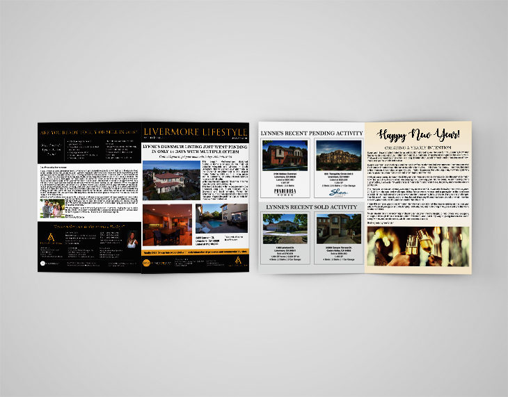 Real Estate Newsletter - Kendra Flores Design - Freelance Graphic