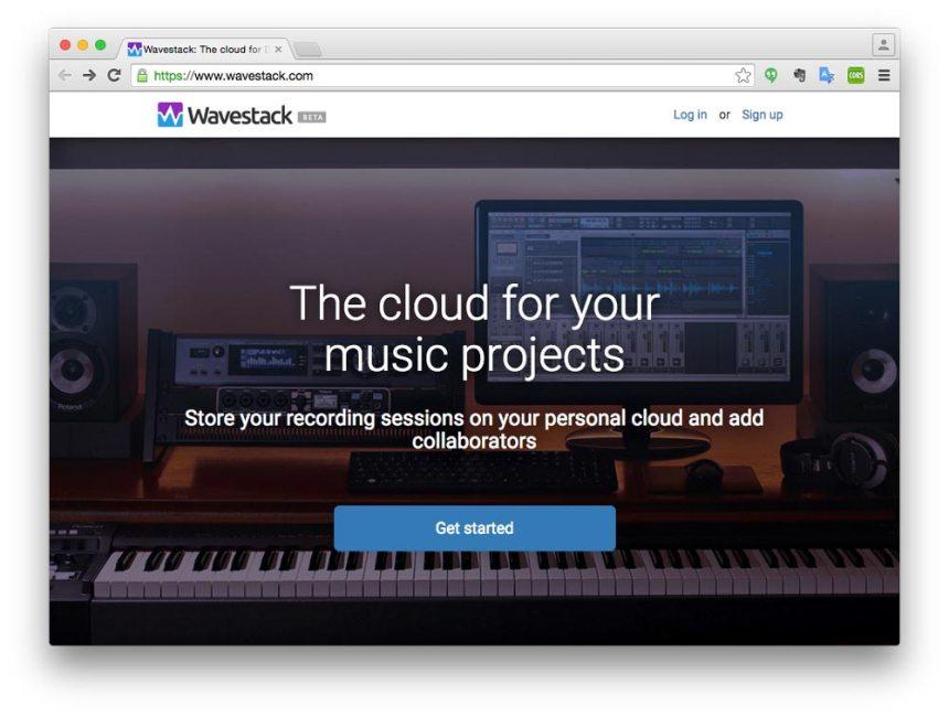 Landing page de Wavestack