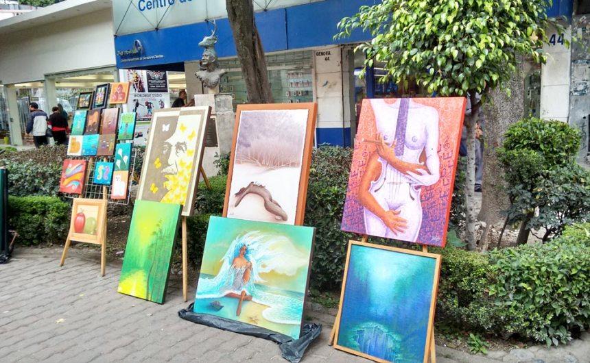 Muestra de arte en la Zona Rosa