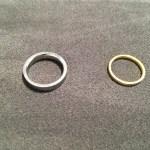 【結婚指輪の思い出】しばらく指輪とお別れです、、