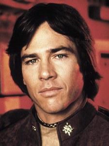 Richard Hatch as Captain Apollo in Battlestar Galactica
