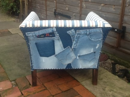 Chair Denim Stripe 3