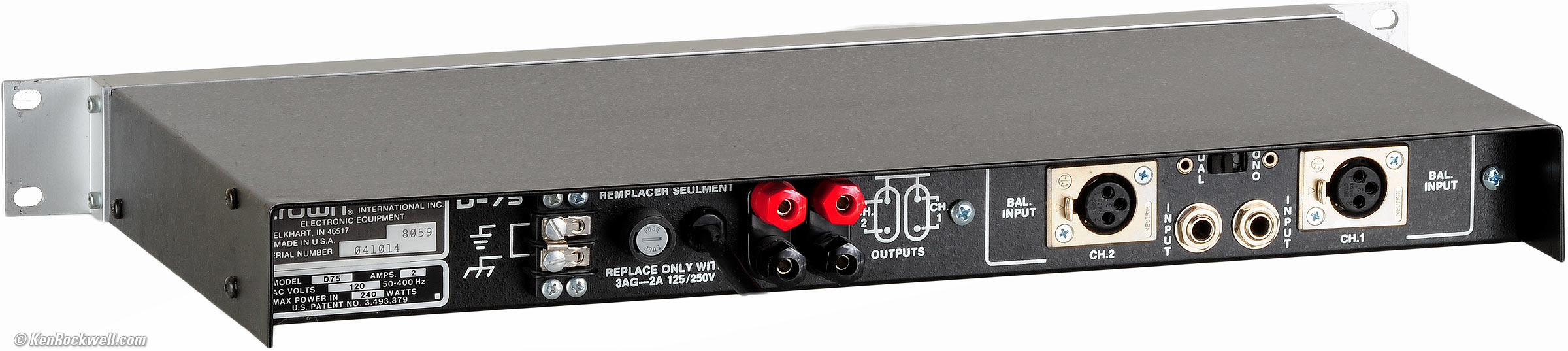 Crown Amplifiers Crown D 75 Review