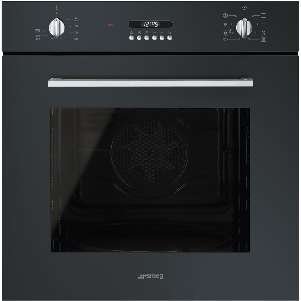 Cucina Kitchen Appliances Smeg Sf478n 60cm Cucina Black Multifunction Single Oven Built In