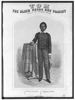 blind tom thomas greene wiggins bethune Thomas greene wiggins was born may 25, 1849 to mungo and charity wiggins,   in 1850 tom, his parents, and two brothers were sold to james neil bethune,.