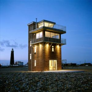 Coastguard Tower, Dungeness lit up