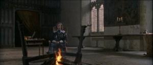 King Charles's I (Rupert Everett) sitting in his chamber