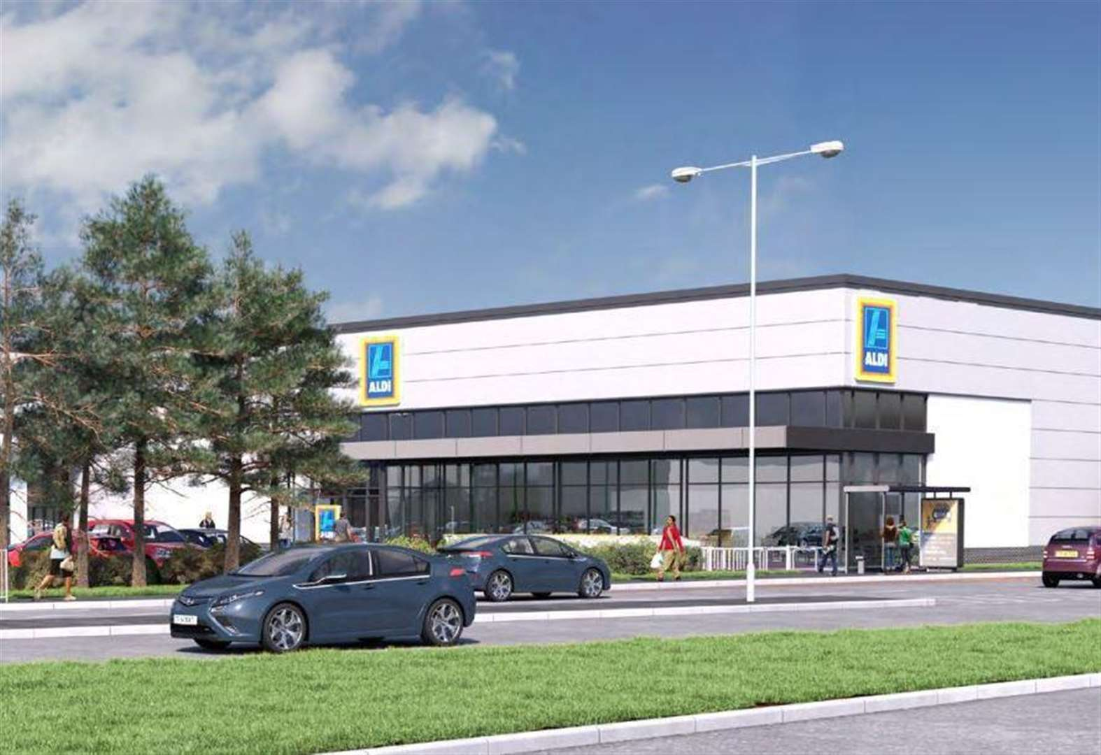 Aldi Herne Kfc And Aldi Plans At Horsted Retail Park Given The Green